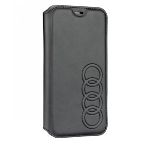 Audi Ledertasche / Book Case iPhone XR TT Serie Sythetic Schwarz