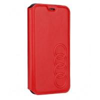 Audi Ledertasche / Book Case iPhone XS / X TT Serie Sythetic Rot