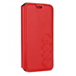 Audi Ledertasche / Book Case iPhone XS / X TT Serie Sythetic Rot