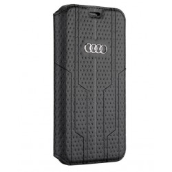 Audi Ledertasche / Book Case iPhone XR A6 Serie Sythetic Schwarz