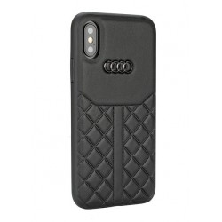 Audi Echtleder Hülle / Case iPhone XS / X Q8 Serie Schwarz