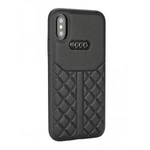 Audi Echtleder Hülle / Case iPhone XS Max Q8 Serie Schwarz