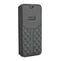 Audi Ledertasche / Book Case iPhone XS / X Q8 Serie Echtes Leder Schwarz