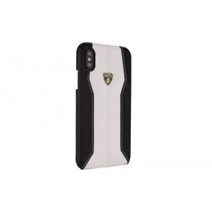 Lamborghini Huracan Echtleder Hülle für iPhone XS Max D1 Serie Schwarz Weiß