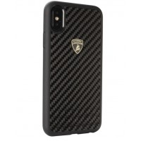 Lamborghini Carbon Hülle / Hardcover für iPhone XR Schwarz
