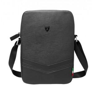 "Original Lamborghini Easy Carry Tablet Tasche bis 12"" Schwarzes Kunstleder"