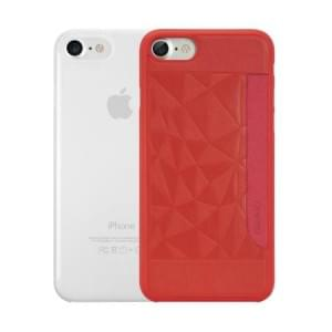 Ozaki O!Coat 0.3 Jelly + Pocket Case I Apple iPhone 8 / 7 I Rot & Transparent