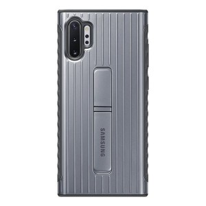 Original Samsung Protective Cover / Hülle Note 10+ Plus Silber