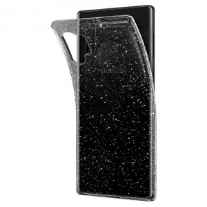 SPIGEN Liquid Crystal Glitzer Hülle Samsung Note 10+ Plus Transparent Quartz