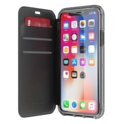 Griffin Survivor Clear Wallet I Tasche iPhone X / Xs I Schwarz / Transparent
