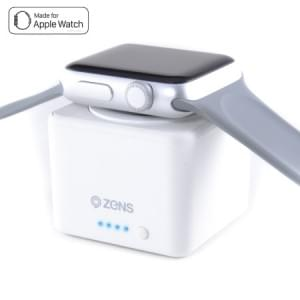 Zens Apple Watch Power Bank | Apple Watch Series 1 / 2 / 3 / 4 | 1300mAh | Weiß