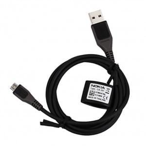 Original Nokia - CA-101 - Micro USB Lade + Datenkabel - 112cm - Universal > Schwarz