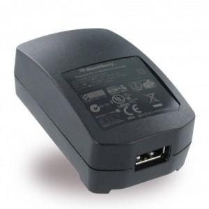 Original BlackBerry - ACC-18080-203 - Netzteil/Ladekabel/Ladegerät mit EU, UK, US Adapter - Micro USB - Schwarz - 500mAh