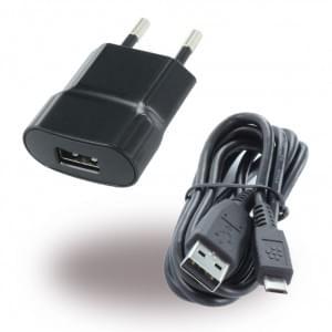 BlackBerry - ASY-24479-003 - Netzteil / Ladekabel / Ladegerät - Micro USB - Schwarz - 750mAh