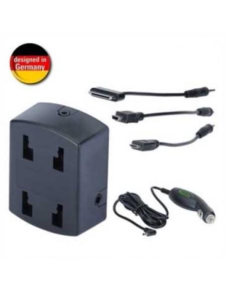 HR Power-Mount-Box mit Micro-USB, Mini-USB + Apple 30-Pin Ladekabel für HR Befestigungssysteme