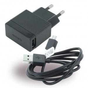 Original Sony - EP880 - Netzteil / Ladekabel / Ladegerät - Micro USB - Schwarz - 1500 mAh