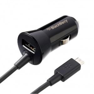 BlackBerry - ACC-48181-201 - Micro USB KFZ-Ladekabel > Schwarz (1800mAh)