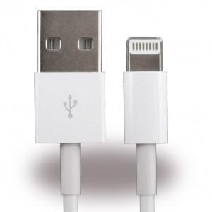 Cyoo Lightning Datenkabel - 100cm für Apple iPhone 5, 6, 6+, 7, 7+, 8, 8+, X  Weiß