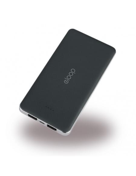 eloop - Powerbank / Externer Akku - Micro-USB - Schwarz - 13000mAh