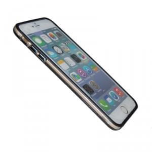 TPU Bumper / Schutzhülle - Apple iPhone 6 Plus - Schwarz Transparent