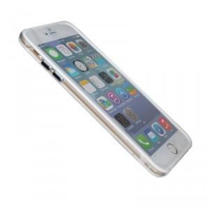 TPU Bumper / Schutzhülle - Apple iPhone 6 Plus - Weiß Transparent