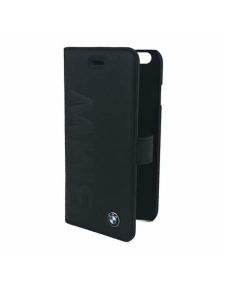 BMW - Signature Debossed Logo Collection - Book Tasche  /Hülle / Case - Apple iPhone 6 Plus, 6s Plus - Schwarz