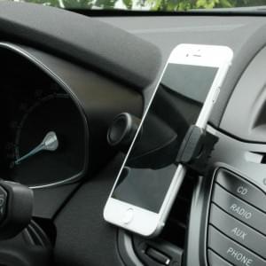Mini 360 Handyhalterung Auto / Handyhalter Drehbar - 5,2 bis 9,0 cm Breite - Schwarz