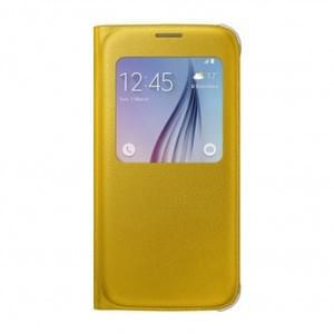 Samsung - EF-CG920PY - S-View Cover Kunstleder - G920F Galaxy S6 - Gelb