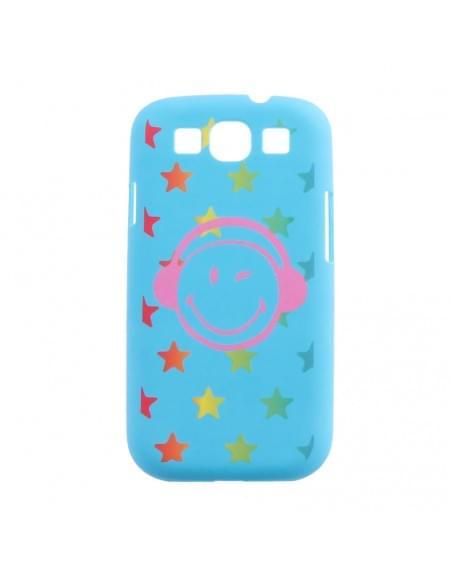 Smiley - 133SMN583.28 - Hardcover/ Hardcase/ Schutzhülle - Samsung i9301 Galaxy S3 Neo - Aqua Blau
