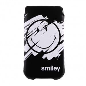 Smiley Urban - 133SMU583.01 - Handyhülle / Handytasche / Schutzhülle - Samsung Galaxy S3 / S4 - Schwarz
