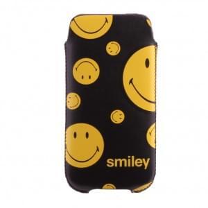Smiley Urban - 133SMU58.40 - Handyhülle/ Handytasche/ Schutzhülle - Apple iPhone 5se,5s,5,5c - Gelb