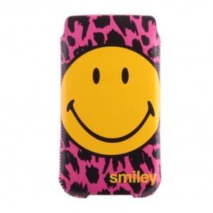 Smiley - 133SMP583.34 - Handyhülle/ Handytasche/ Schutzhülle - Samsung i9505 Galaxy S4 - Pink
