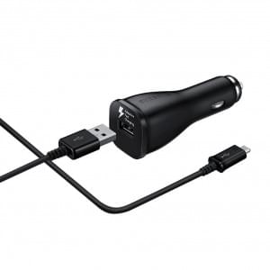 Original Samsung - EP-LN915U - USB KFZ Ladegerät + Ladekabel - Micro USB - 2000mA - Schwarz