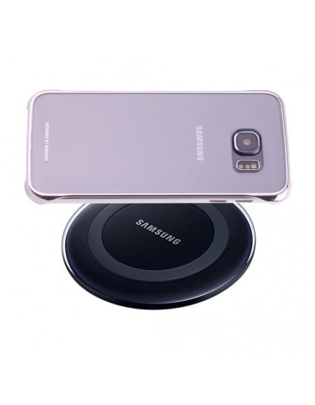 Samsung - EP-WG920IBEGVW - Lade Pad / induktive Dockingstation + Clear Cover - G920F Galaxy S6 - Schwarz