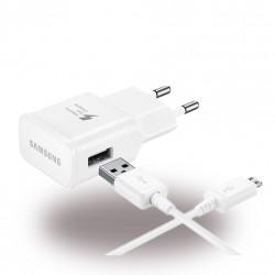 Original Samsung EP-TA20EWE USB Netzteil + Ladekabel Micro-USB Weiss 10W