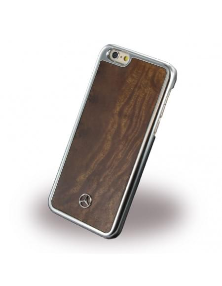 Mercedes-Benz MEHCP6MYBR - Holz Hard Cover/ Case/ Schutzhülle - Apple iPhone 6/6S - Braun