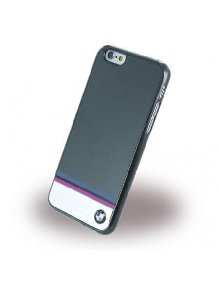 BMW - BMHCP6TSDG Aluminium Stripe - Hard Cover / Case / Schutzhülle - Apple iPhone 6/6s - Grau