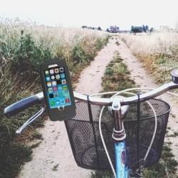 Wasserabweisende Fahrrad Handyhalterung / Fahrradhalter für Apple iPhone 6 / 6s Schwarz