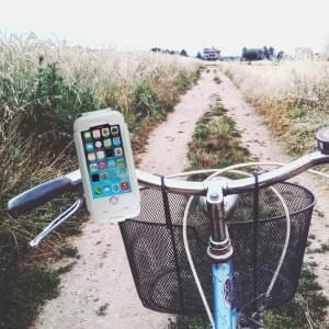 Wasserabweisende Fahrrad Handyhalterung / Fahrradhalter für Apple iPhone 6 / 6s Weiss