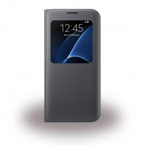 Samsung - EF-CG935PB - S-View Handy Cover - Samsung G935F Galaxy S7 Edge - Schwarz