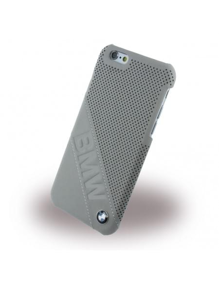 BMW - BMHCP6LDLT Slanted Logo - Perforated Leather - Hard Cover/ Case/ Schutzhülle - Apple iPhone 6/6s - Beige