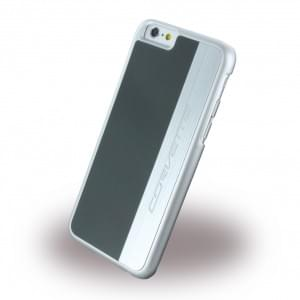 Corvette Silver Brushed Aluminium - Hard Cover / Case / Schutzhülle - Apple iPhone 6 / 6s Grau