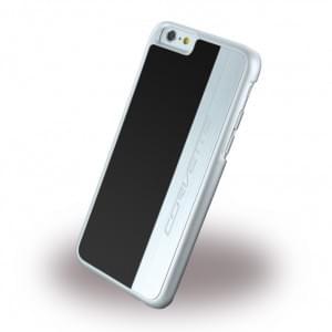 Corvette - COHCP6LMEBL - Silver Brushed Aluminium - Hard Cover / Case / Schutzhülle - Apple iPhone 6 Plus, 6s Plus - Schwarz