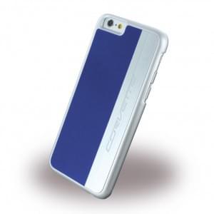 Corvette Silver Brushed Aluminium - Hard Cover / Case / Schutzhülle - Apple iPhone 6 Plus, 6s Plus - Blau