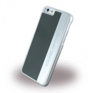 Corvette Silver Brushed Aluminium - Hard Cover / Case / Schutzhülle - Apple iPhone 6 Plus, 6s Plus - Grau