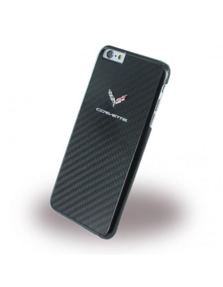 Corvette - COHCP6LCABL - Real Carbon Hard Cover / Case / Schutzhülle - Apple iPhone 6 Plus, 6s Plus - Schwarz