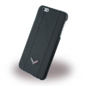 Corvette - COHCP6LSPBL - Stingray - Leder Hard Cover / Case / Schutzhülle - Apple iPhone 6 Plus, 6s Plus - Schwarz