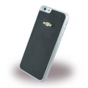 Chevrolet Emblem Mirror Kunstleder Hard Cover / Case / Schutzhülle - Apple iPhone 6 / 6s Schwarz