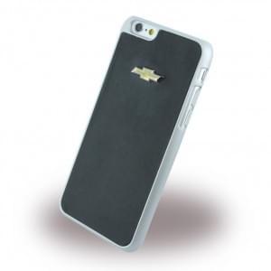 Chevrolet Emblem Mirror Effect - Kunstleder Hard Cover / Case / Schutzhülle - Apple iPhone 6 Plus, 6s Plus - Schwarz