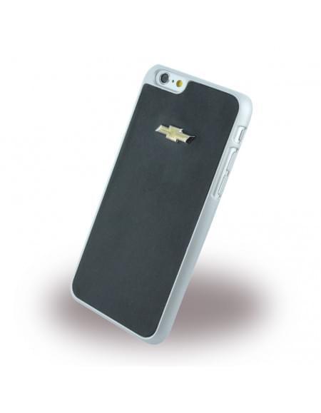 Chevrolet - CHHCP6LMIBL - Emblem Mirror Effect - Kunstleder Hard Cover / Case / Schutzhülle - Apple iPhone 6 Plus, 6s Plus - Schwarz